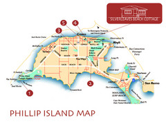 Phillip Island, Australia Beach Map