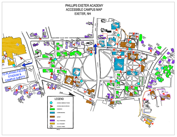 Phillips Exeter Academy Campus Map  20 Main St Exeter NH