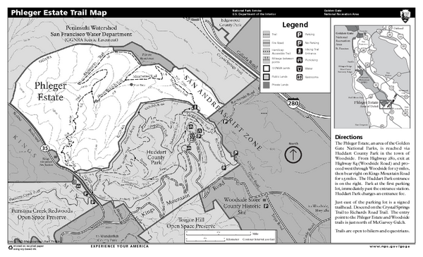 Phleger Estate Trail Map