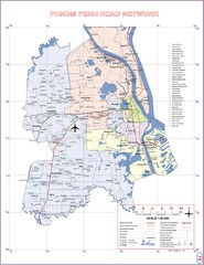 Phnom Penh Surrounding Area Cambodia Road Map