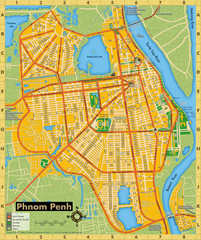 Phnom Penh Tourist Map