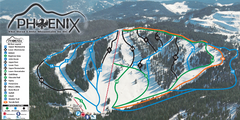 Phoenix Mountain Ski Trail Map