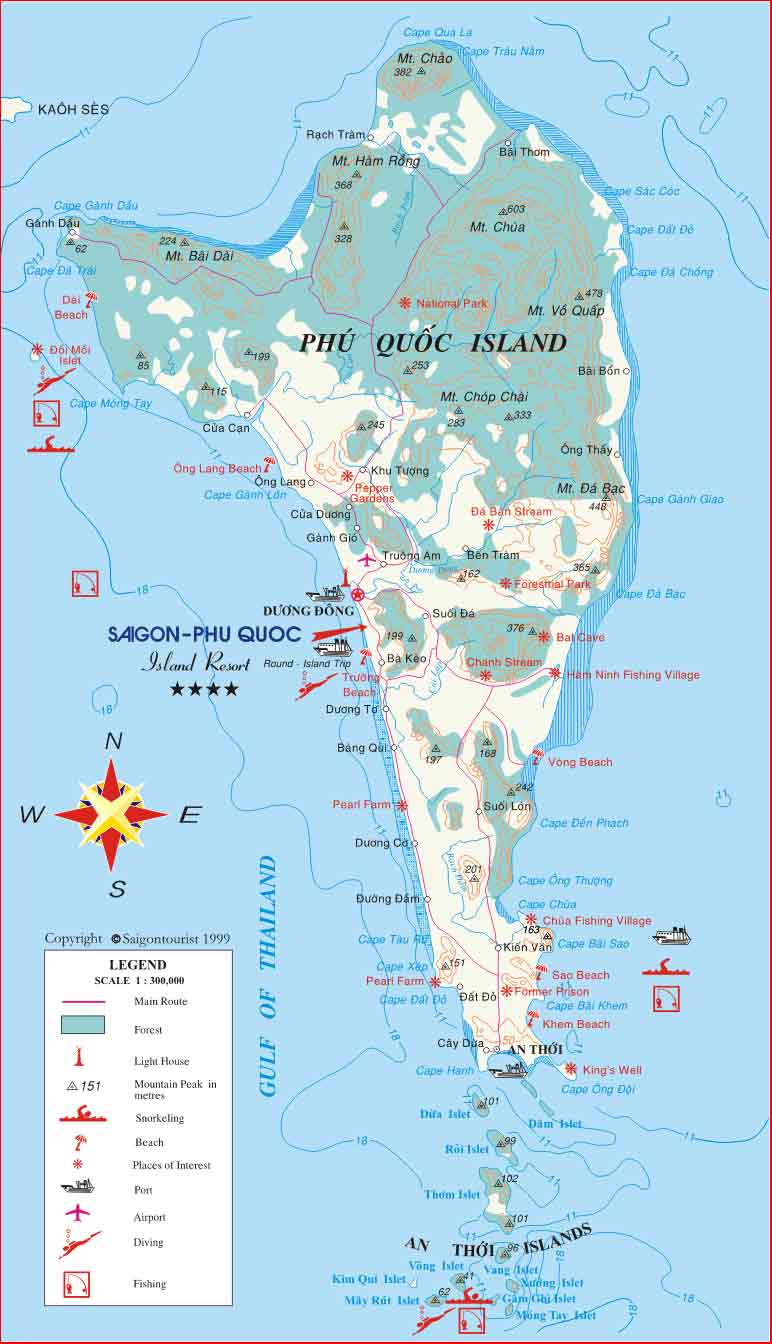 Phu Quoc Island Vietnam  city images : Phu Quoc Tourist Map Phu Quoc • mappery