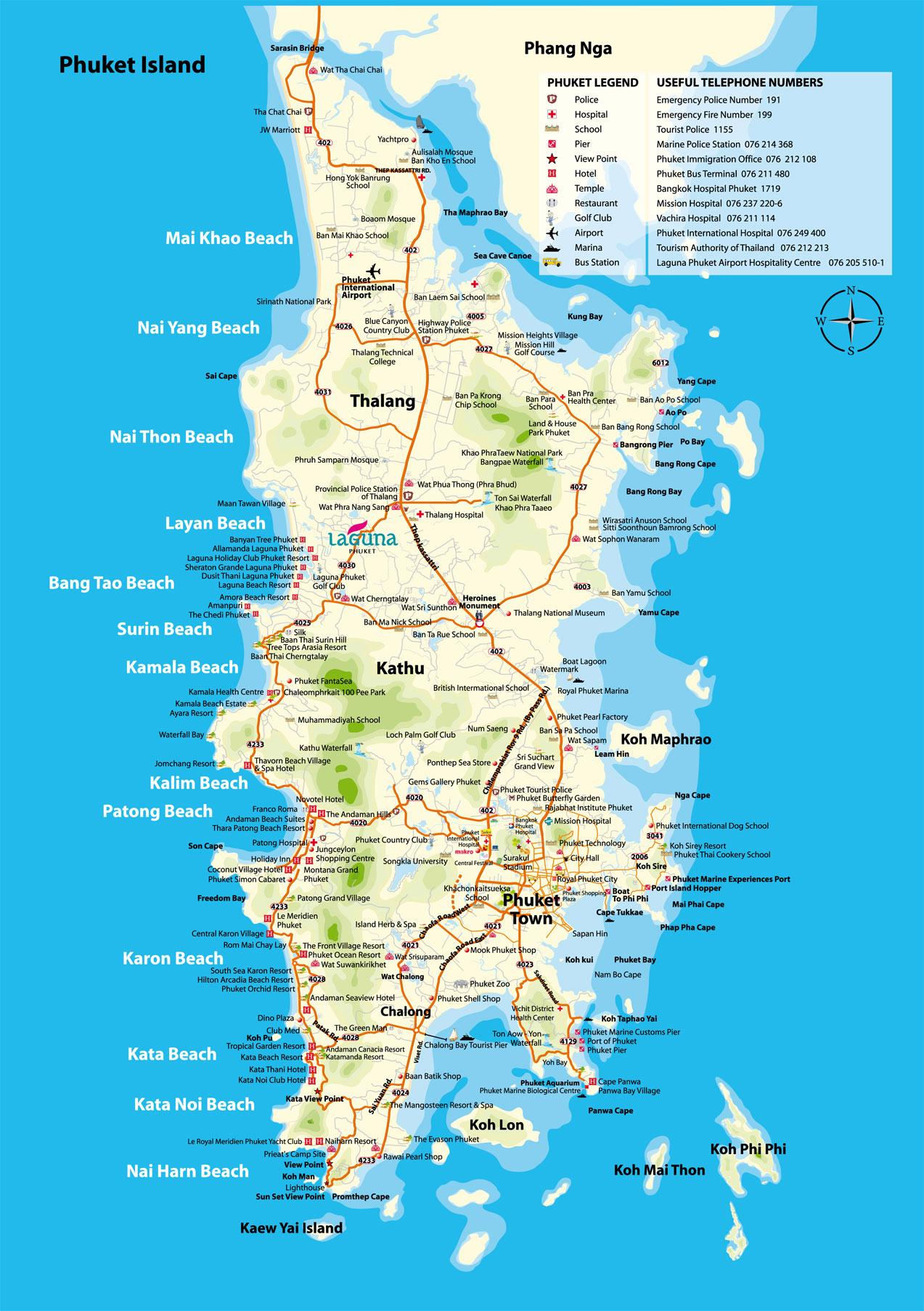 phuket island map phuket island mappery