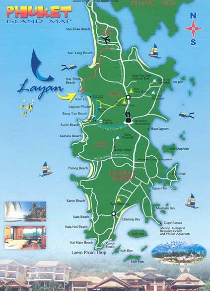 Langkawi Island Tourist Map