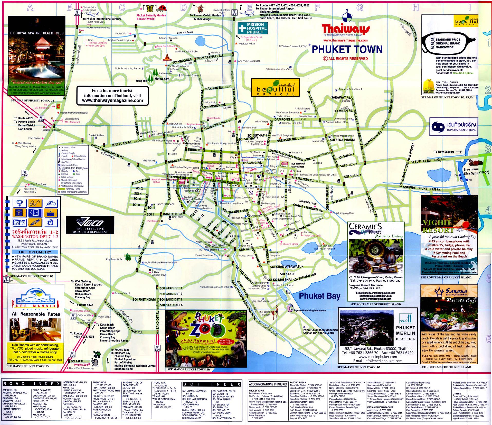 Phuket Town Map Phuket Thailand mappery
