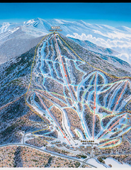 Pico Mountain Ski Trail Map