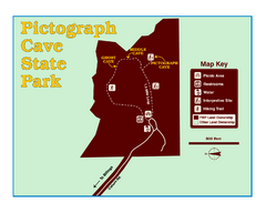 Pictograph Cave State Park Map