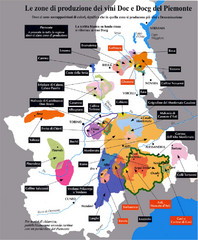 Piedmont Region Wine Map