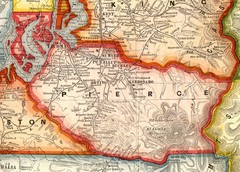 Pierce County Washington Map, 1909 Map