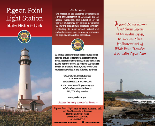 Pigeon Point Light Station State Historic Park Map