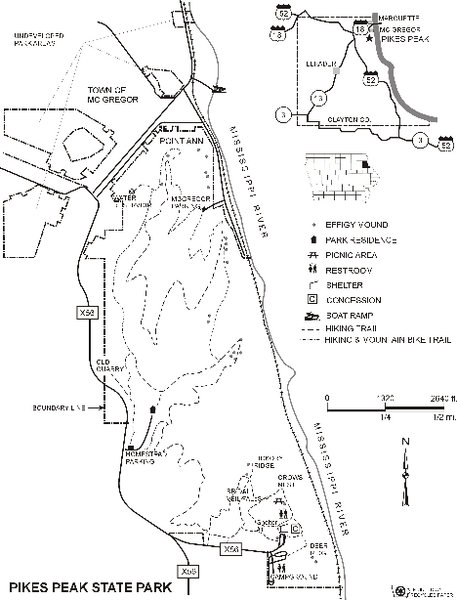 Pikes Peak State Park Map