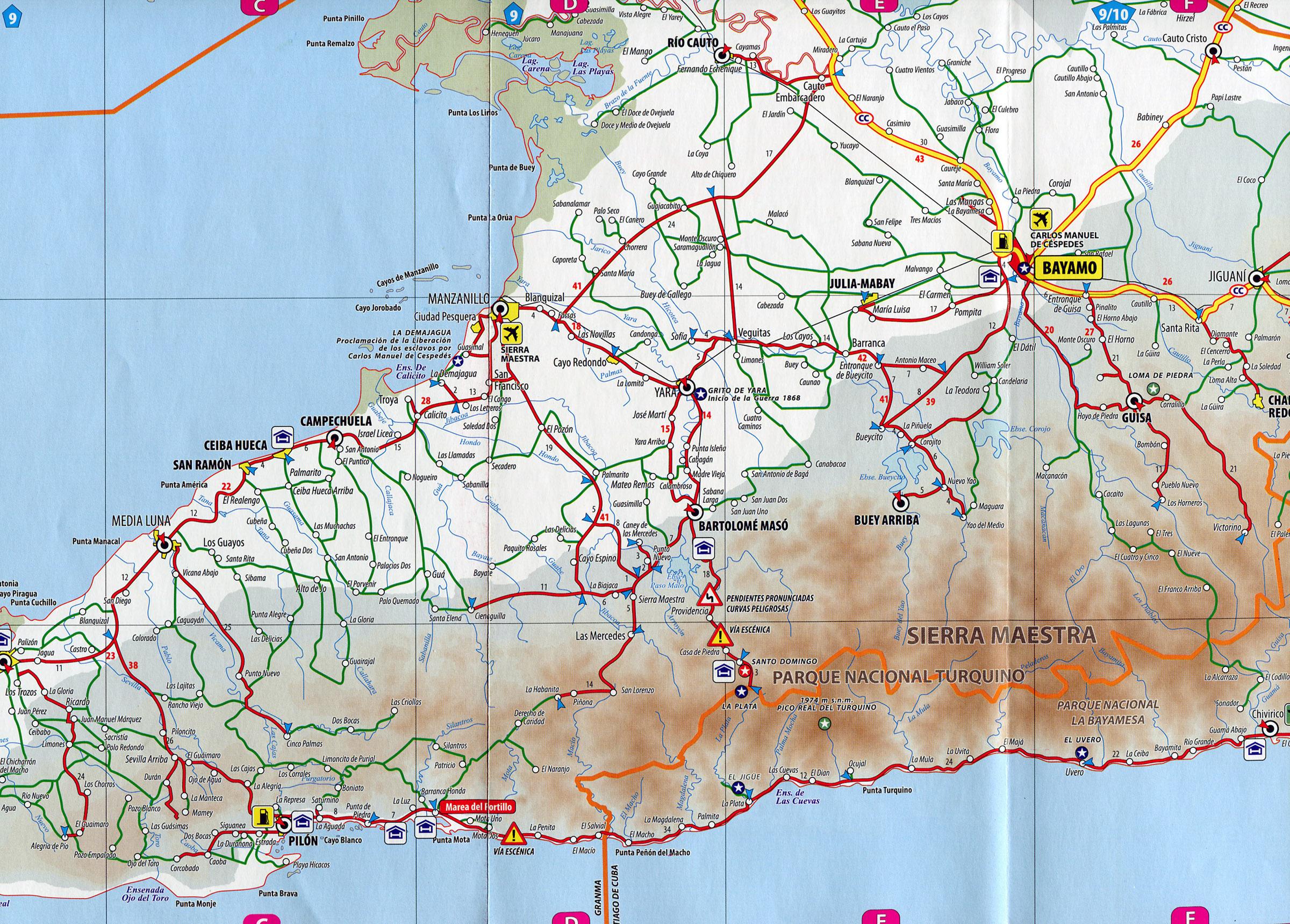 PilonBayamo Road Map Pilon Cuba mappery