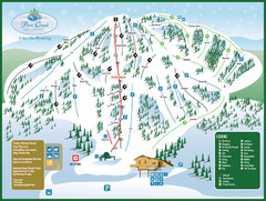 Pine Creek Ski Area Ski Trail Map
