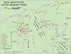 Pine Mountain State Resort Park Map