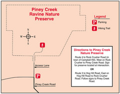 Piney Creek Ravine, Illinois Site Map