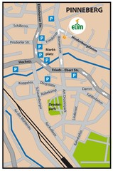 Pinneberg Center Map