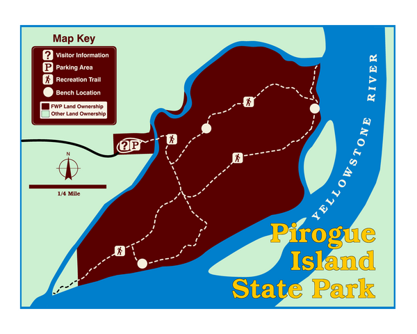 Pirogue Island State Park Map