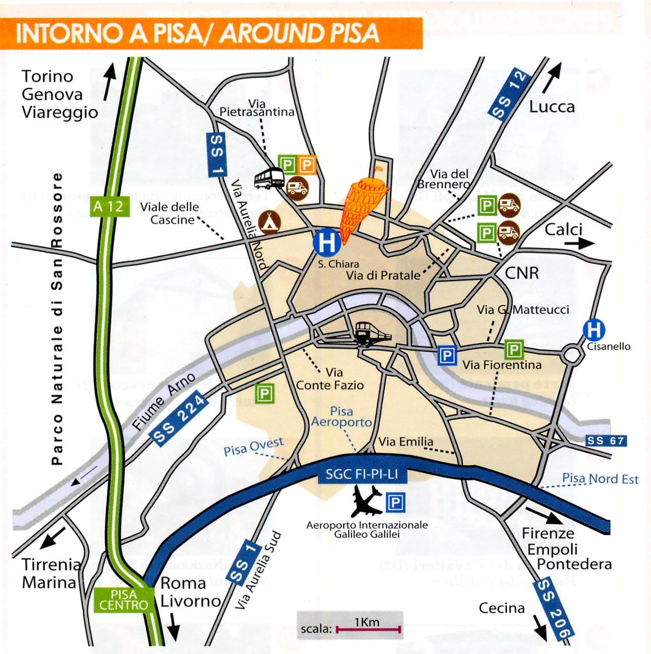 Pisa around map pisa mappery gumiabroncs Choice Image