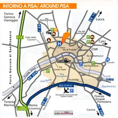 Pisa  Around Map