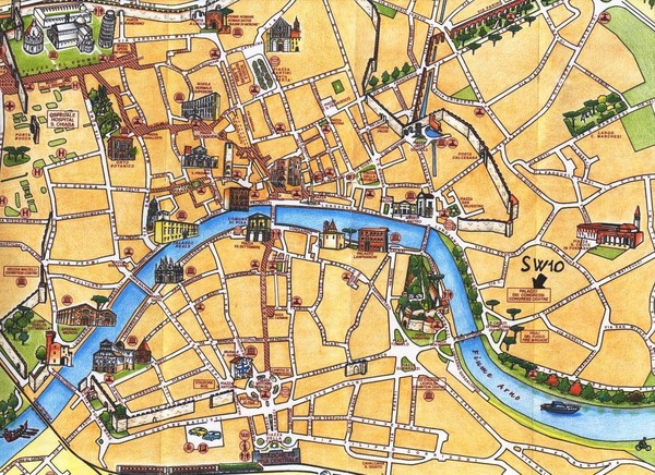 Pisa Tourist Map Pisa Italy mappery – Tourist Map Of Italy