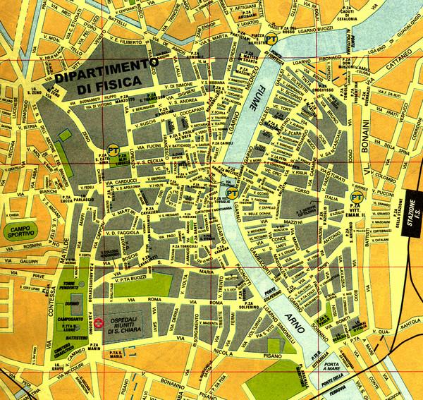 Pisa maps mappery – Pisa Tourist Map