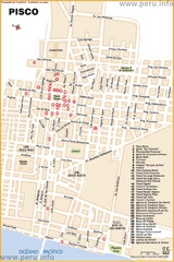 Pisco Tourist Map