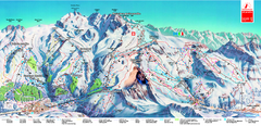 Piste Map of Zermatt with Cervinia