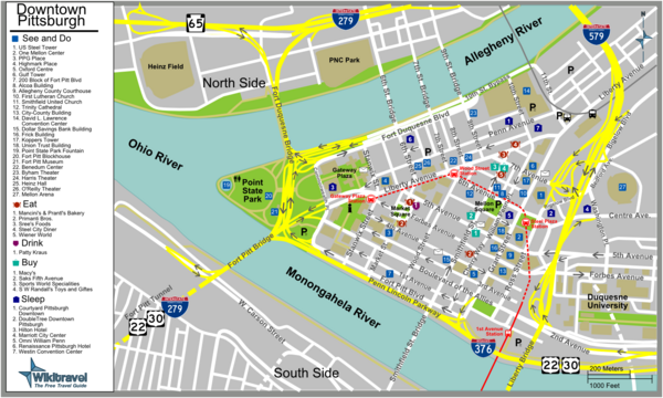 Pittsburgh Tourist Map
