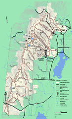Pittsfield State Forest winter trail map