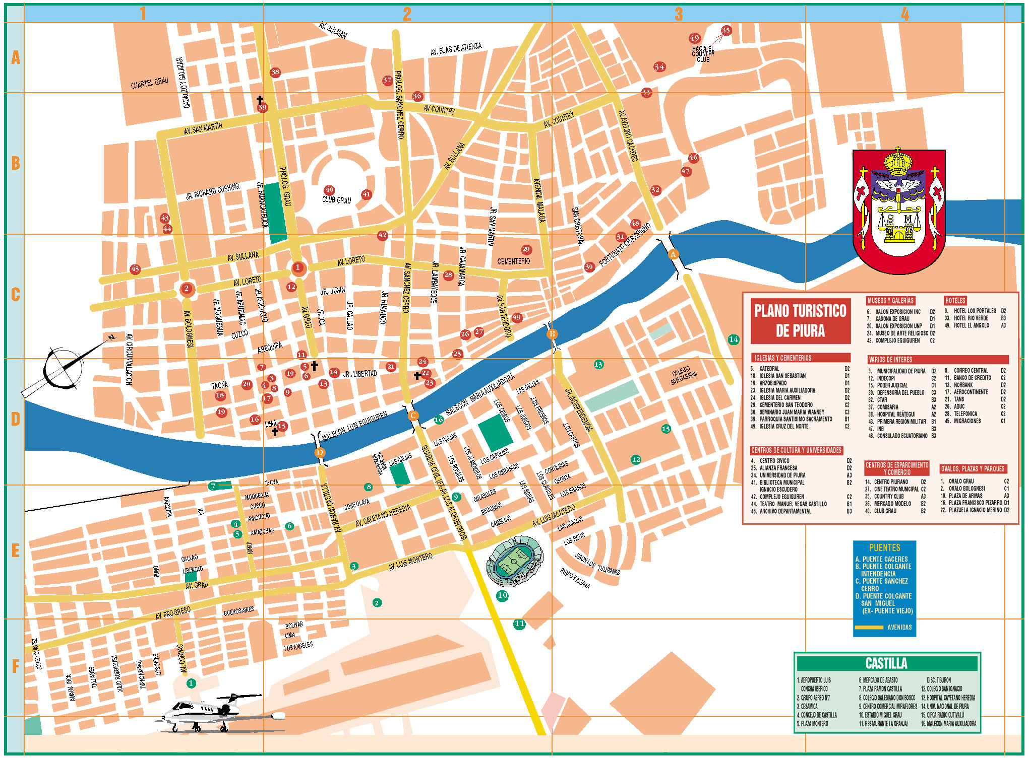 Piura Tourist Map Piura Peru mappery – Tourist Map Of Peru