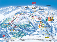 Pizol Ski Trail Map