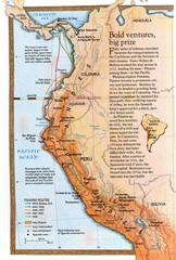 Pizzaro's South American Exploration routes...
