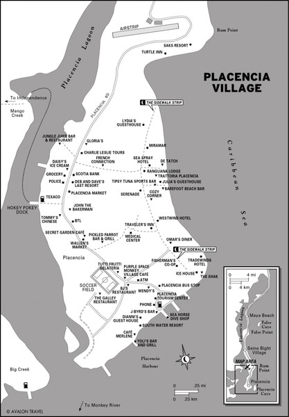 Placencia village Map