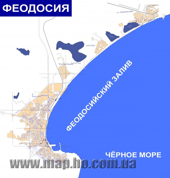 Plan of the Feodosiya (in Russian) Map