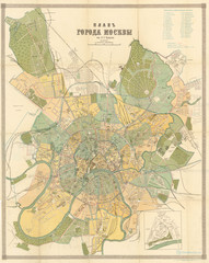 Plan of Moscow, by Alexey Suvorin Map