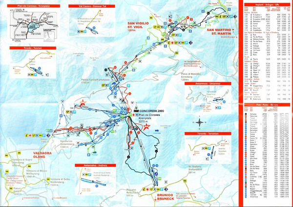 Plande Corones Ski Trail Map