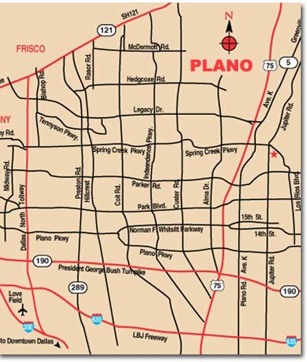 Plano City Map Plano Texas Mappery - City map of texas