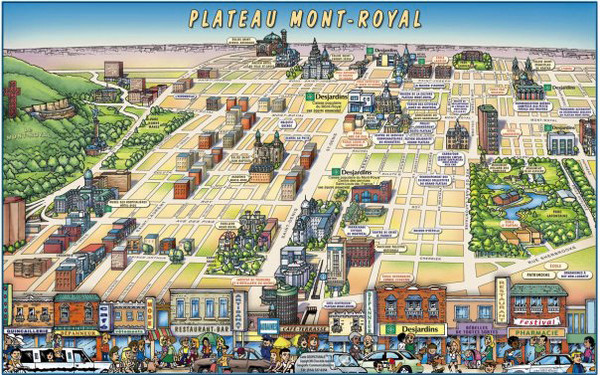 Plateau Mont-Royal Map