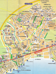 Playa Flamenca Tourist Map