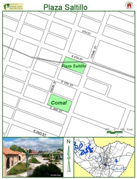 Plaza Saltillo Park Map 412 Comal St Austin mappery