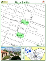 Plaza Saltillo Park Map