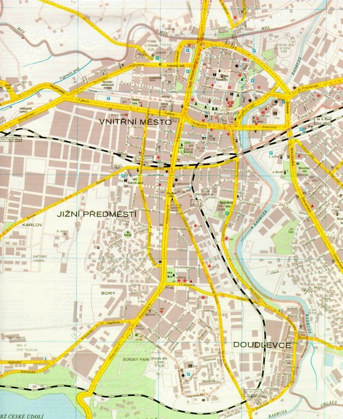 Plzen City Map