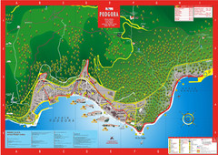 Podgora map