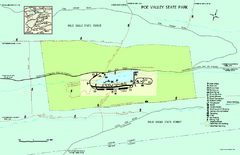 Poe Valley State Park map