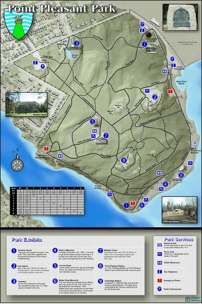 Point Pleasant Park Map Point Pleasant Park Nova Scotia mappery