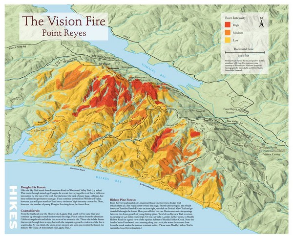 Point Reyes Vision Fire Map   Point Reyes CA • mappery