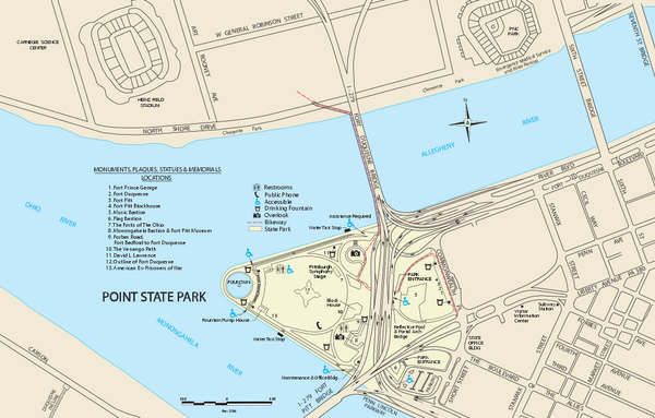Point State Park Map