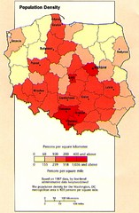 Poland Population Density Map