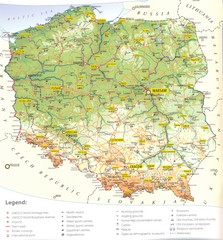 Poland Tourist Map